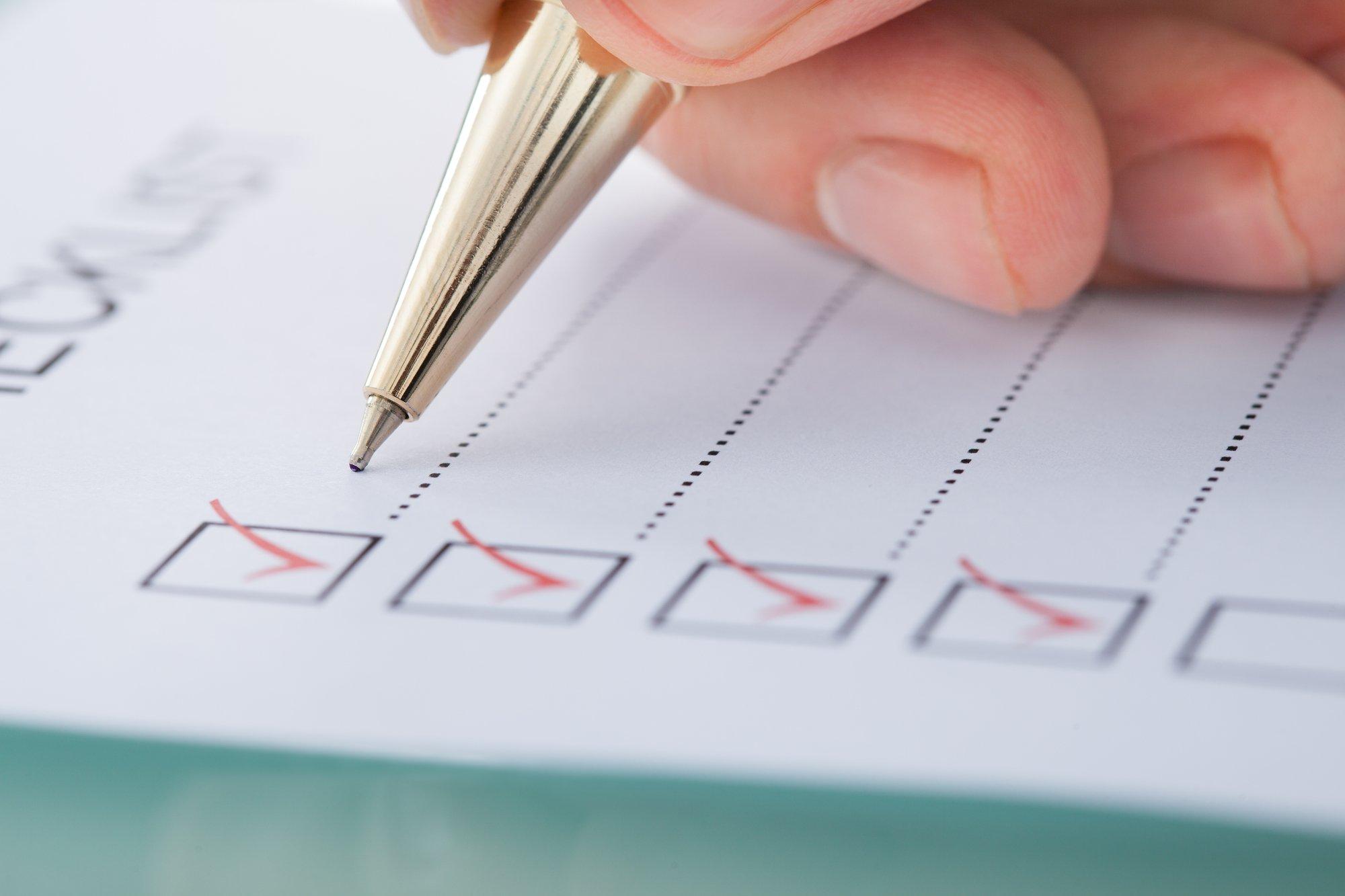 Businessman Preparing Checklist
