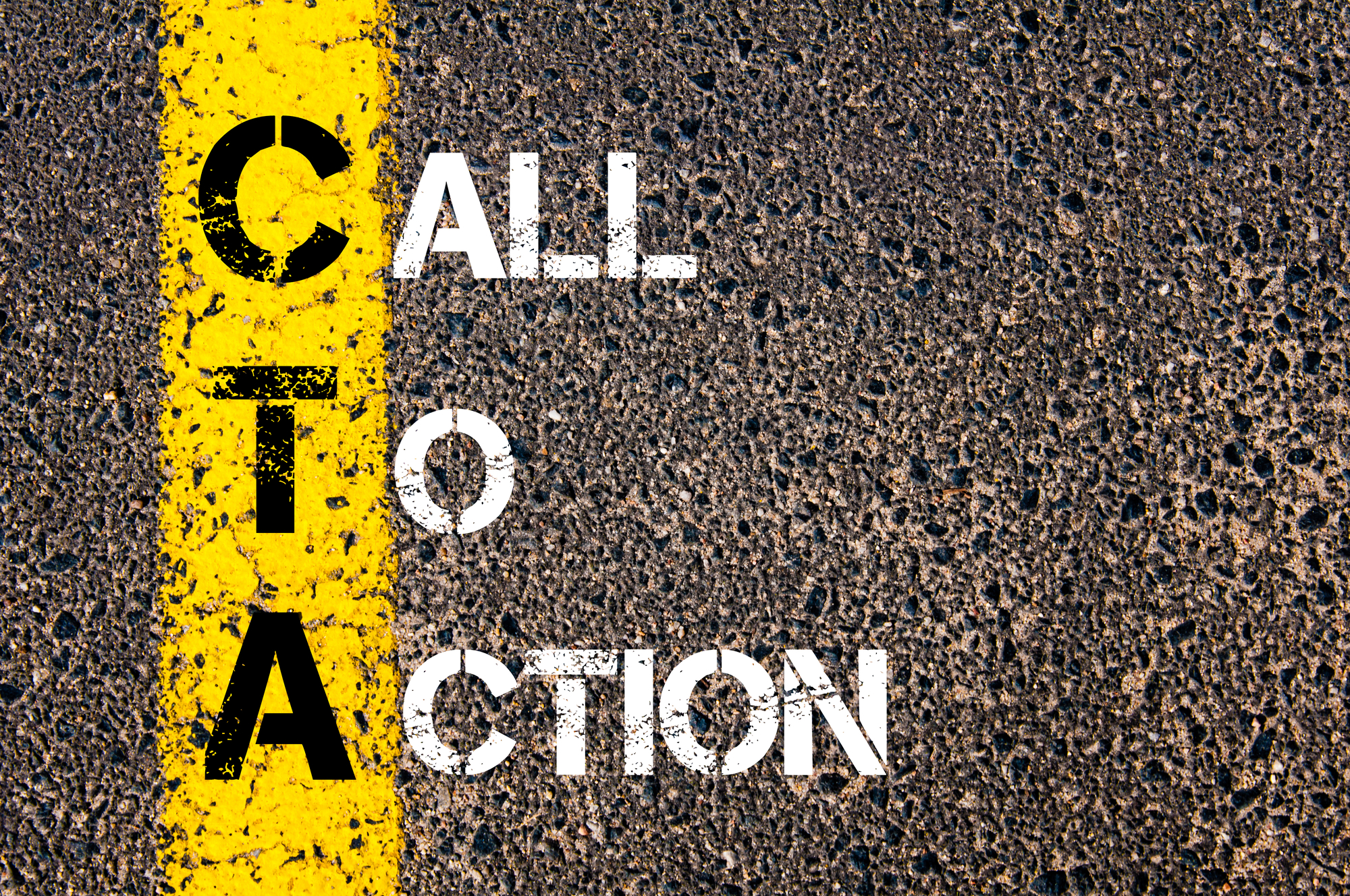 Depositphotos_70892087_l-2015CTA call to action printed on a yellow road stripe