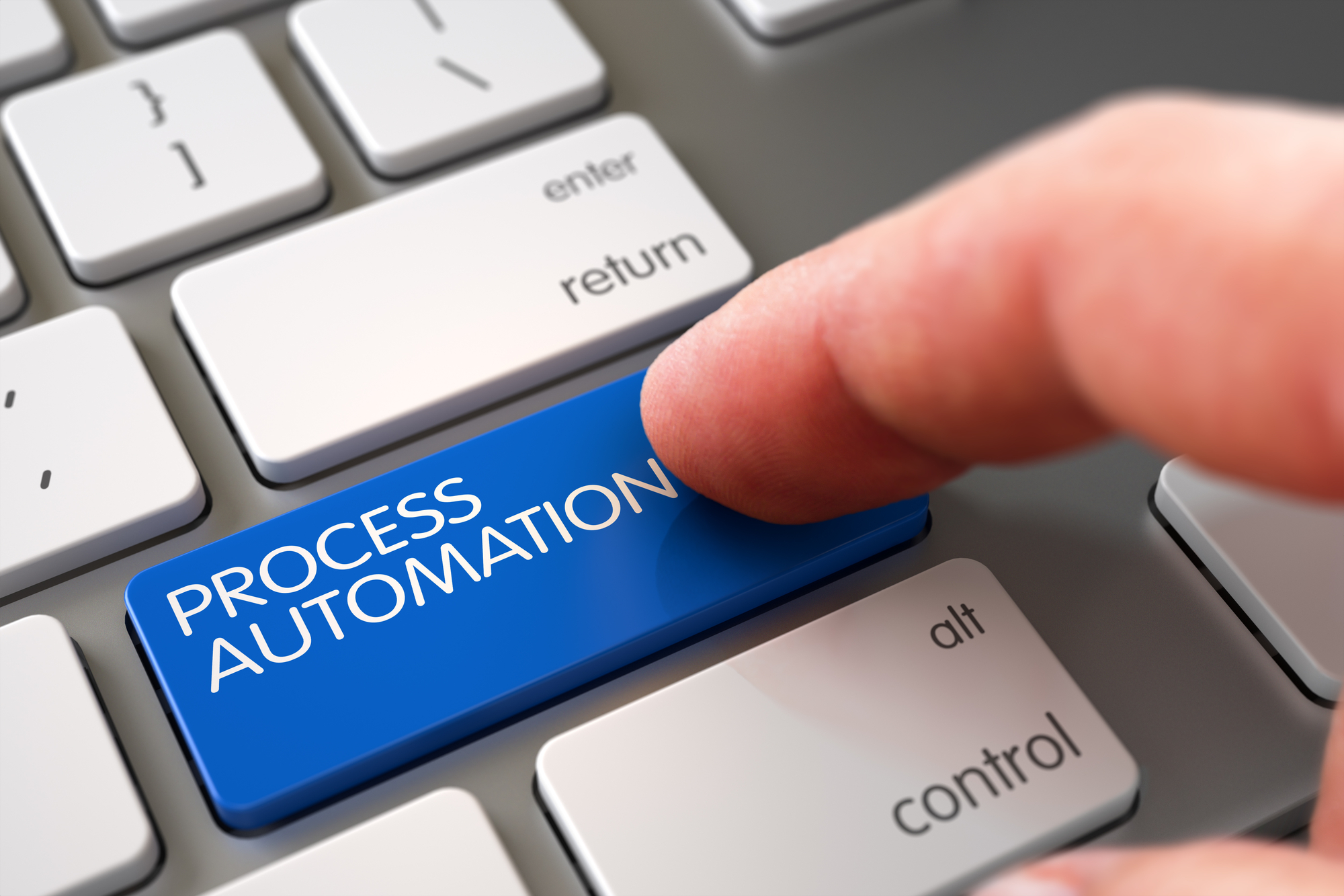 Hand Touching Process Automation Key
