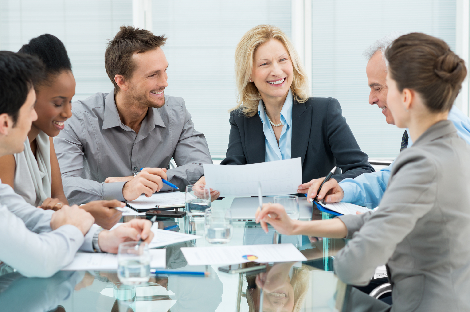 Happy Business In Meeting