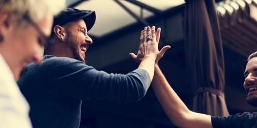 Men Hands giving High Five