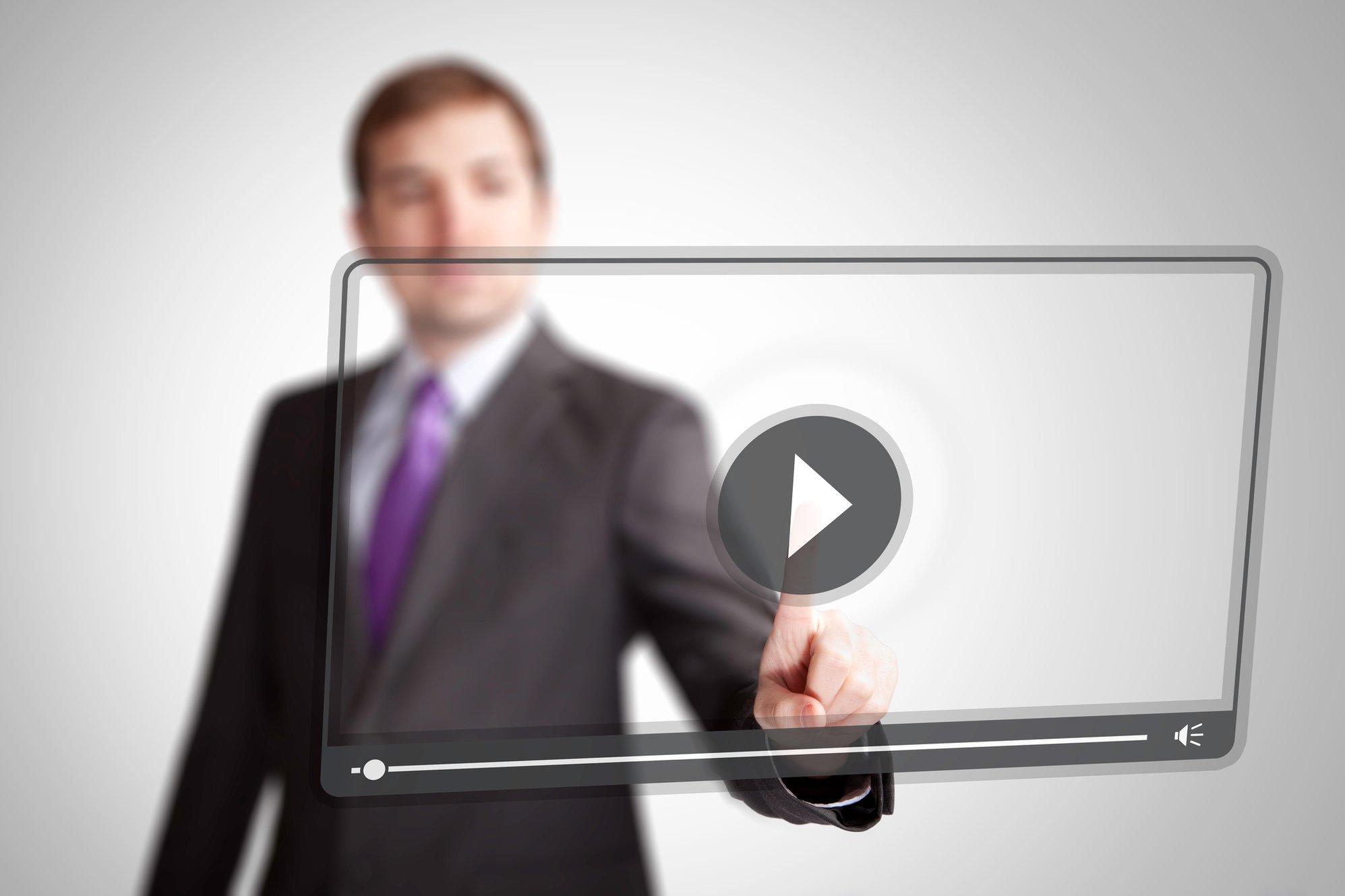 Press video play button