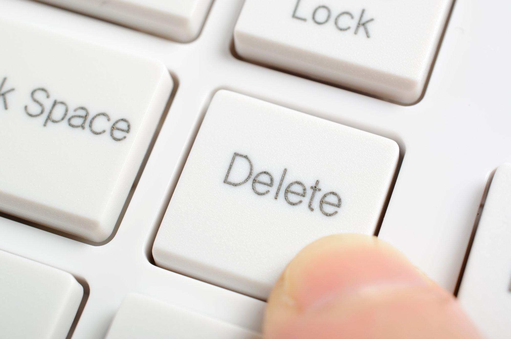 Pressing delete key