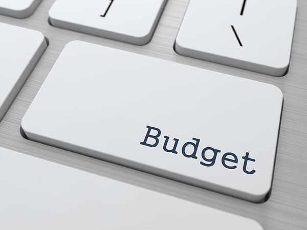 Budget - Business Concept. Button on Modern Computer Keyboard.