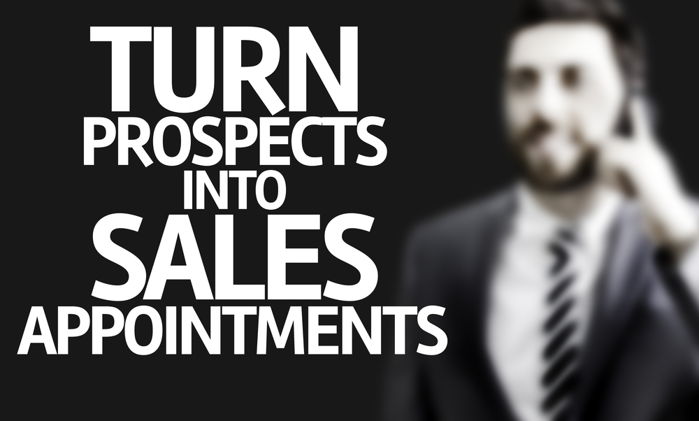 Business man with the text Turn Prospects Into Sales Appointments in a concept image-2