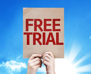 Free Trial card with beautiful day