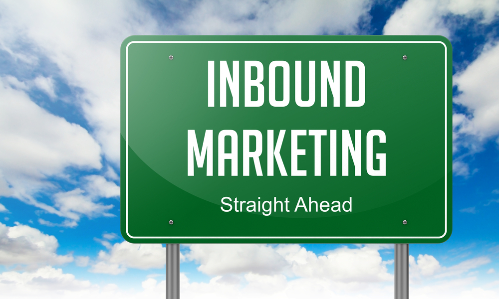 Highway Signpost with Inbound Marketing wording on Sky Background.-1