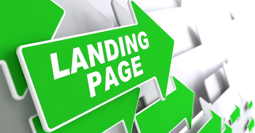 Landing Page. Green Arrows with Slogan on a Grey Background Indicate the Direction.-1