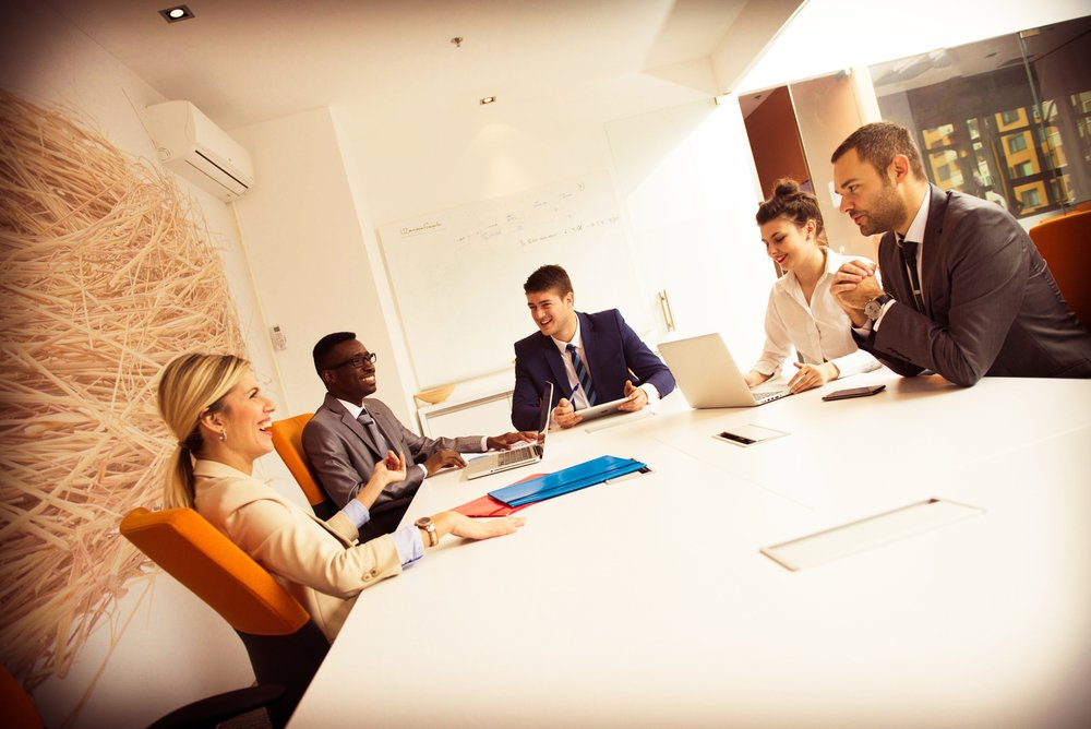 young business people group have meeting and working in modern bright office indoor-1