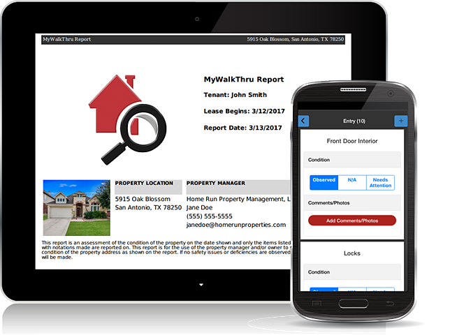 Example MyWalkThru Report on Tablet and Phone