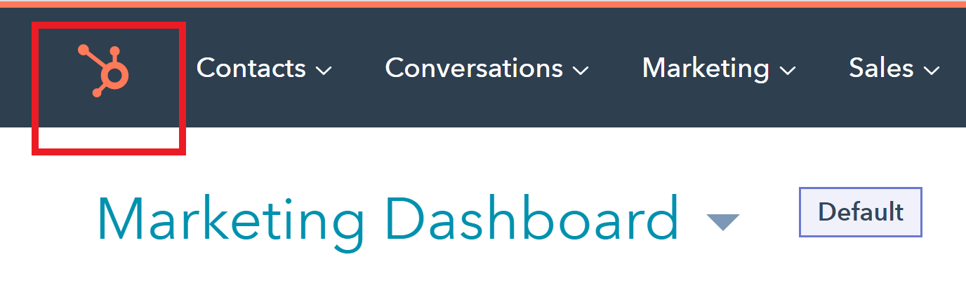 HubSpot marketing dashboard screenshot.